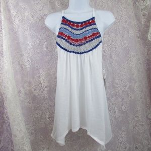 NWT Almost Famous Crochet Racer Back Tank Large